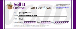 giftcertificate_basics of selling on ebay